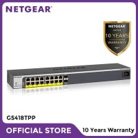 Netgear GS418TPP 16 Port Gigabit PoE+ Smart Managed Pro Switch