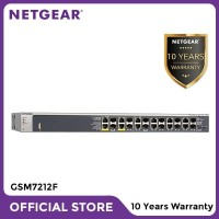 Netgear GSM7212F Fully Managed Switch 12 ports Gigabit Fiber L2+