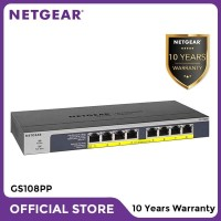 Netgear GS108PP 8 Port Gigabit PoE+ Unmanaged Switch for IP Camera
