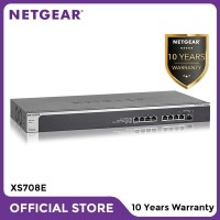 Netgear XS708E 8 Port 10 Gigabit Ethernet Smart Managed Plus Switch