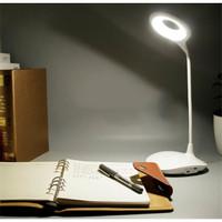 Lampu LED Meja Belajar USB Lampu Baca Desk Lamp Listrik Baterai