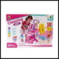 Cleaning Car Trolley No. 666-86 - Mainan Alat Kebersihan Ember