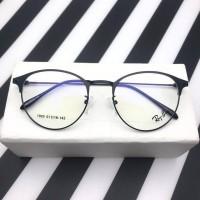 Frame kacamata marbel UNISEX metal classic round minus plus silinder
