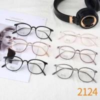 Frame kacamata Ghania round pria wanita minus plus silinder lentur