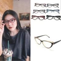 Frame kacamata cat eye 009 wanita + minus plus silinder anti radiasi