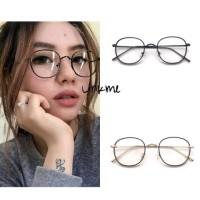 [ Frame + Lensa ] Frame Kacamata Classic Pria Wanita Pauline BLACK