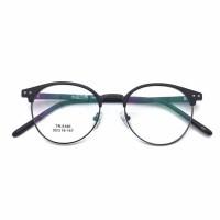 Frame kacamata TR90 5165 clubmaster round minus plus silinder unisex