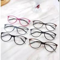 Frame kacamata G101 cat eye + minus plus silinder wanita