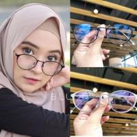 Frame kacamata 9614 besi classic vintage wanita minus plus silinder
