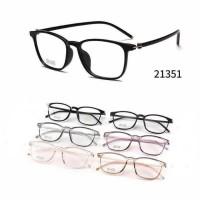 Frame kacamata square lentur 2135 + lensa minus plus silinder