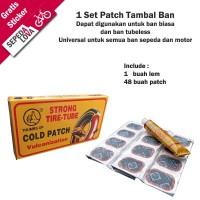 Paket Lem Tip Top Patch Tambal Ban Sepeda dan Motor Tubeless