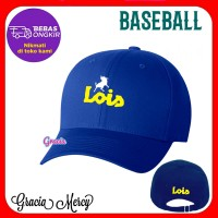 TOPI LOIS PRIA BASEBALL CAP BIRU - H4
