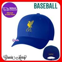 TOPI LFC LIVERPOOL PRIA BASEBALL CAP BIRU - H4