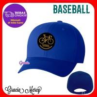 TOPI SEPEDA GOWES PRIA BASEBALL CAP BIRU - H4