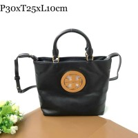 TORY BURCH Charlie Leather Logo Tote