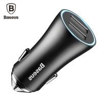 Baseus Car USB Charger Car Charging LED 2 USB Car Charger Adapter