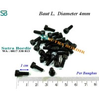 Baut L 4mm Panjang 1cm Bordir Frame Komputer dan Industri Umum Lainnya