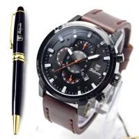 Jam Tangan Tetonis chronograph Free pulpen TTS002 Kualitas Original