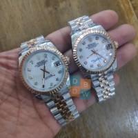 Jam Tangan Wanita premium Rolex oyster couple stainles steel