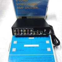 Audio Video RCA Splitter 4 Port