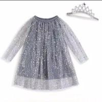 rok dress bayi anak perempuan bling bling bintang plus bandana cantik