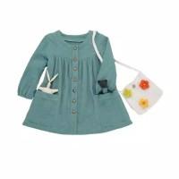 rok dress bayi anak perempuan warna hijau tosca cantik