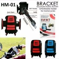 Holder Bike Spion Motor Dudukan Pegangan HP Smartphone Sepeda Motor H