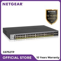 Netgear GS752TP 52 Port Gigabit PoE/PoE+ Smart Managed Pro Switch