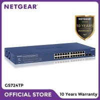 Netgear GS724TP 24 Port Gigabit Ethernet PoE Smart Managed Pro Switch