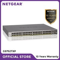Netgear GS752TXP 52 Port Gigabit PoE+ Stackable Smart Managed Switch