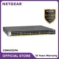 Netgear GSM4352PA 48 Port PoE+ Stackable Fully Managed Switch