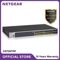 Netgear GS728TPP 28 Port Gigabit PoE+ Smart Managed Pro Switch