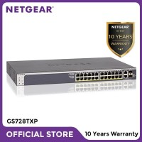 Netgear GS728TXP 28 Port Gigabit PoE+ Stackable Smart Managed Switch
