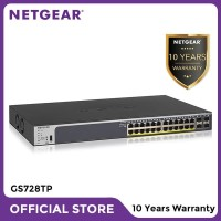 Netgear GS728TP 28 Port Gigabit Ethernet PoE+ Smart Managed Pro Switch
