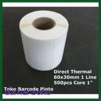 Sale Direct Thermal 60X30Mm 500Pcs 1 Line Gap 2Mm Core 1Inch Label