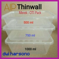Termurah Thinwall 500 Ml Food Container Kotak Box Makan Plastik