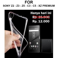 Ultra clear case Sony Z2 - Z3 - Z5 - C3 - C5 Ultra - XZ Premium casing