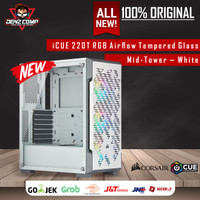 CORSAIR CUE 220T RGB Airflow Tempered Glass Mid-Tower Case — White