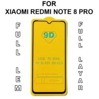Tempered Glass Xiaomi Redmi Note 8 Pro anti gores full layar kaca 5D