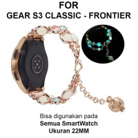 Strap Band Samsung Gear S3 Classic Frontier 46mm tali jam 22mm AGATE