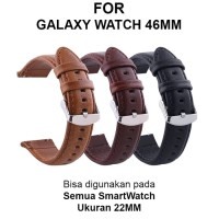 Strap Band Samsung Galaxy Watch 46mm smartwatch tali jam 22mm LEATHER