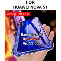 Anti crack case Huawei Nova 5T softcase casing cover tpu ultra thin