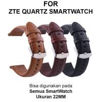 Strap Band ZTE Quartz Smart Watch Smartwatch tali jam 22mm LEATHER