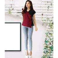 blouse mika kombinasi warna