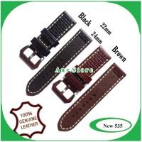 Tali Jam Tangan Kulit Asli ORIGINAL leather Strap 22 mm 24 mm