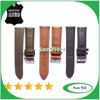 Tali Kulit Jam Tangan Genuine Leather 22mm 24mm
