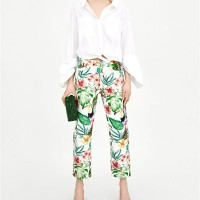 SALE - Tropical Flower Long Trousers 22129 (size S)