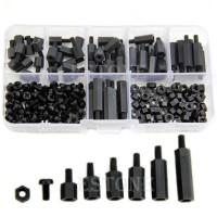 XHHD Set Stand-off Spacer Kit Nylon M3 180 PCS - M3 - Black