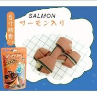 Amedod - 5 inch dental cleaning bone Salmon for dog
