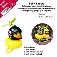 Bel Sepeda Bebek Kuning Lampu LED Bell Helm Baling-baling
